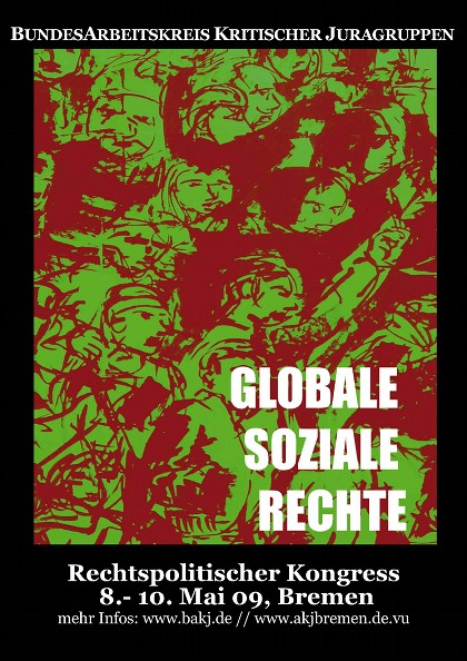 Plakat BAKJ-Kongress Mai 2009, Bremen